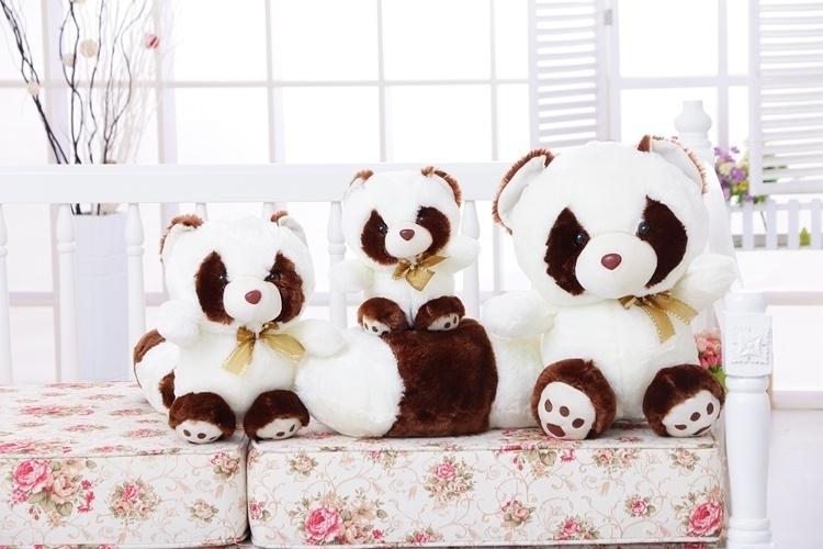【可爱小浣熊毛绒玩具小熊猫玩偶抱枕布娃娃七夕情人