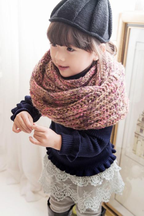 儿童保暖围巾