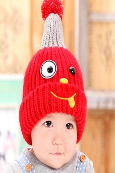 休闲帽吧 宝宝帽子婴儿童帽子 可爱小猫护耳帽