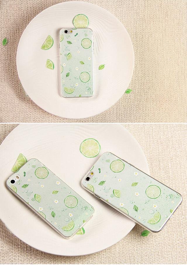 【十色柠檬】小清新柠檬插画手机壳