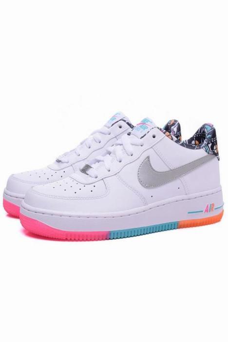 airforce1空军一号彩虹涂鸦女休闲板鞋