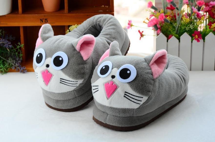 冬季创意可爱毛毛棉拖鞋