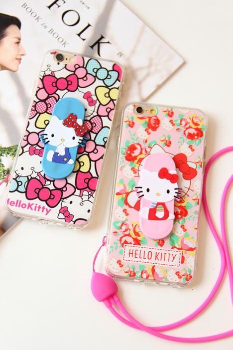 手机壳,iphone壳,凯蒂猫,童趣卡通,挂绳