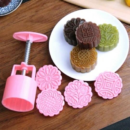 【包邮diy广式冰皮月饼糕点多用模具模型模板器
