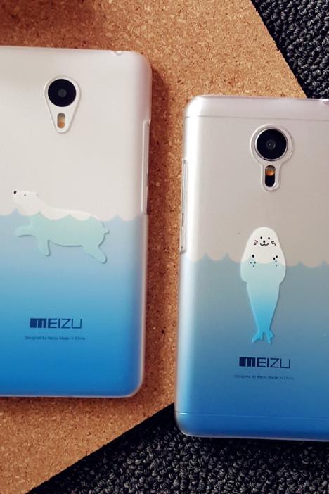 【魅族mx345/pro魅蓝note/2动物海狮北极熊手机壳】