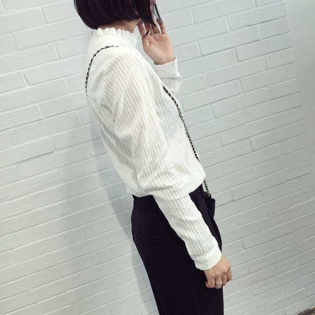 【青橙家花边领子衬衫】-衣服-服饰鞋包