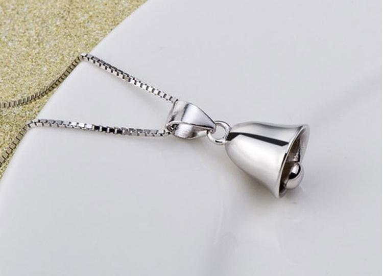s925纯银 铃铛可爱小清新项链