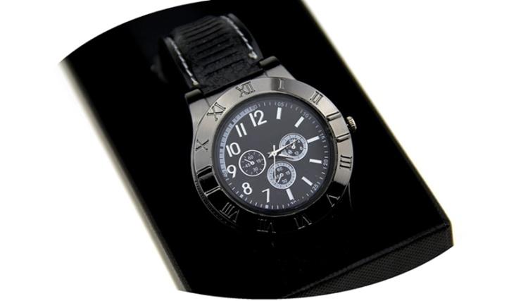 手表充电打火机防风创意个性usb电子点烟器金属男士腕表火机