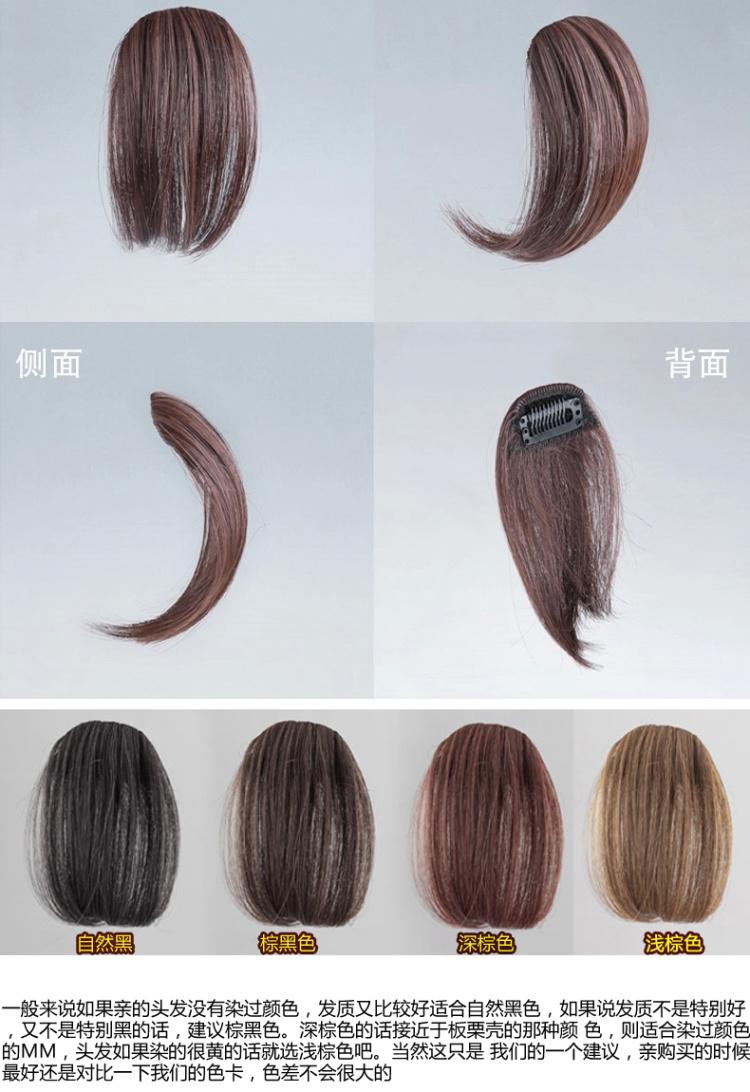 商品描述 空气刘海 产品参数 长度:短发 材质:高温丝 刘海类型:可齐
