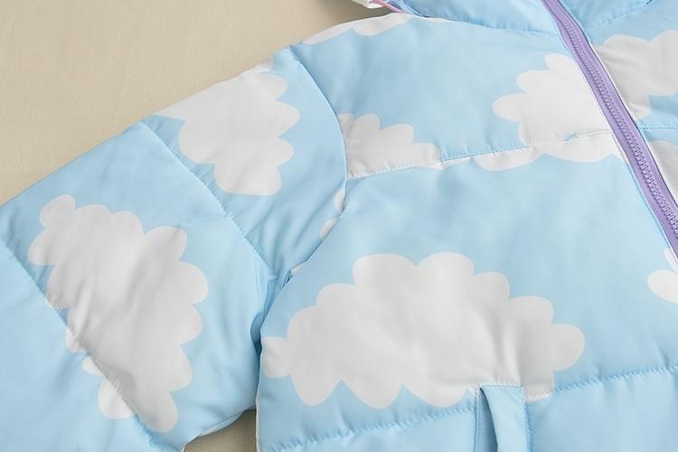 日系可爱软萌云朵棉衣