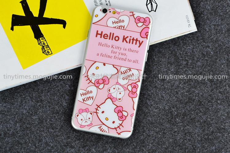 可爱凯蒂猫 苹果iphone6s钢化膜