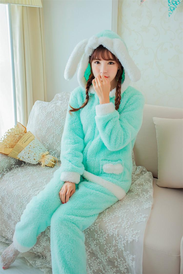 【冬季套装加绒加厚小可爱萌萌哒甜美家居服】-衣服