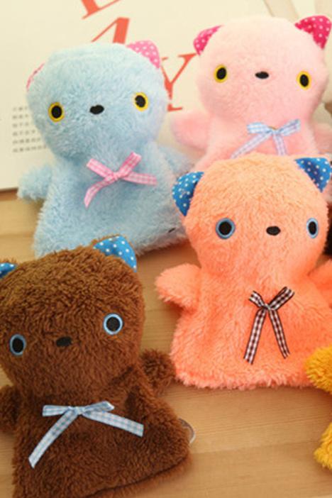 可爱猫咪迷你暖手宝 便携小热水袋 可拆洗毛绒暖手袋 注意:此款桔色和