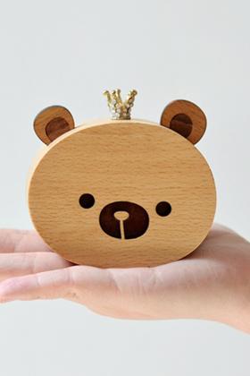 猪娃礼物 日本sanyo机芯榉木皇冠猫咪熊熊创意八音盒