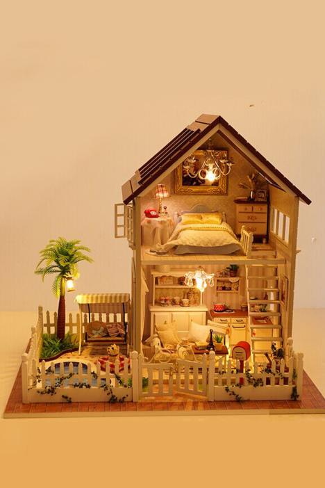 手工制作立体房子纸盒别墅
