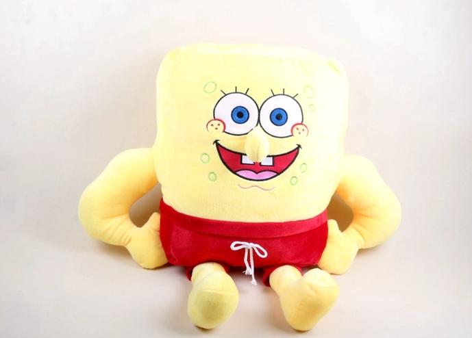 立体大鼻子海绵宝宝毛绒玩具