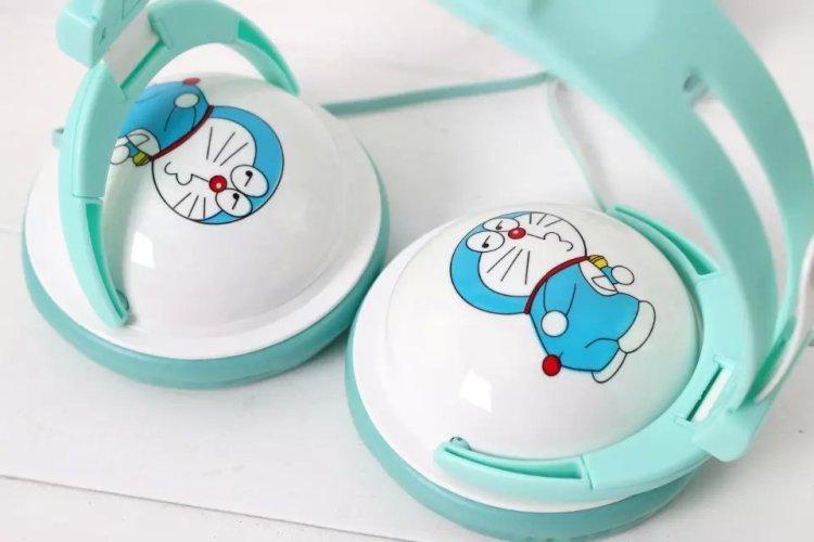 哆啦a梦头戴式头戴式 可爱卡通电脑mp3手机通用耳麦女学生潮