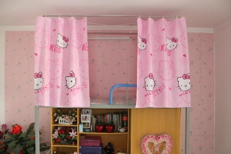 卡通kitty猫 透气布料床帘