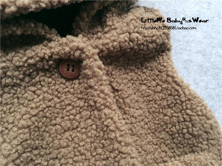 小宝宝马甲秋冬款婴儿毛绒背心可爱兔耳朵新生儿时尚外出加厚背心