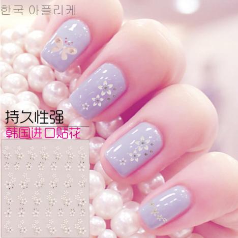 三张包邮美甲贴花指甲贴纸韩国饰品可爱儿童新娘成品