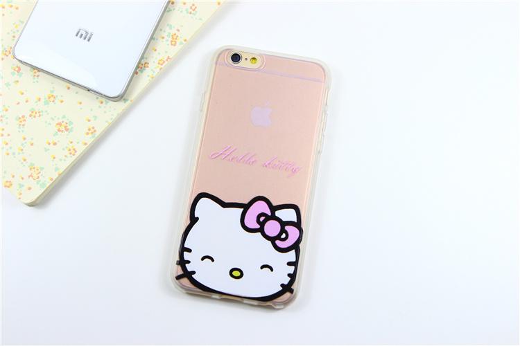 kitty 叮当猫 情侣半透明iphone手机壳