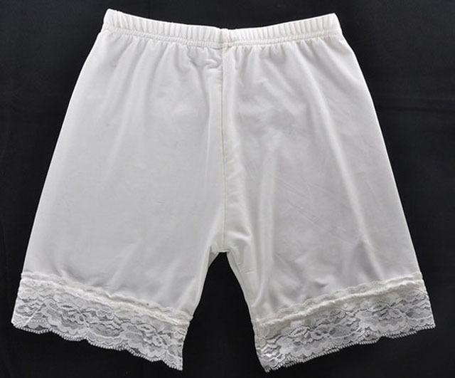 安全裤 女士打底小内裤蕾丝花边冰丝三分裤