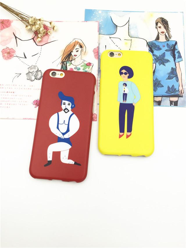 【個性文藝潮男iphone6splus手機殼】-配飾-手機配件