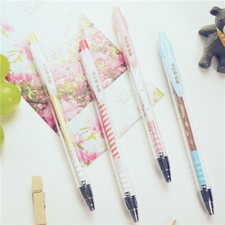 晨光中性笔碳素笔 按动笔 韩国可爱卡通 0.38mm