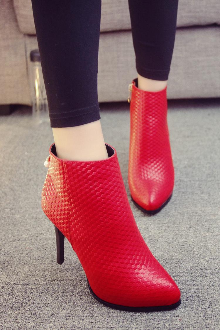 【3d立体珍珠尖头细跟高跟鞋】-鞋子-靴子_女鞋_服饰
