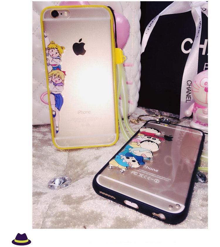 【苹果小动物卡通iphone6s美少女挂脖6plus手机壳】