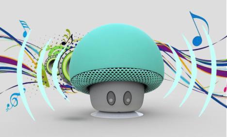 便携萌可爱蘑菇蓝牙无线音响 手机支架卡通迷你小音箱