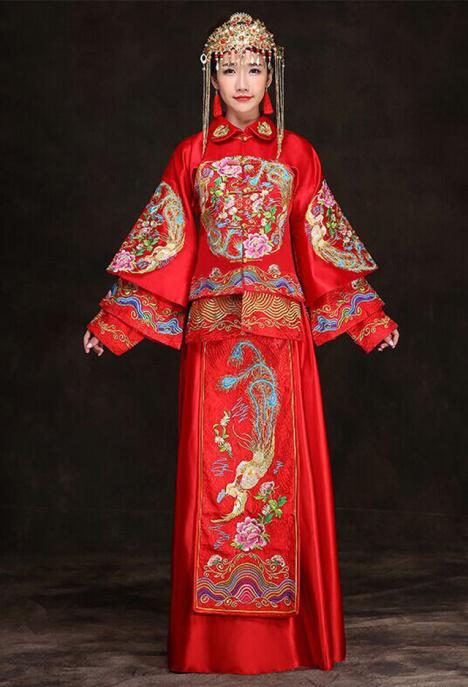 2015新款秀禾服新娘礼服嫁衣龙凤褂秀和服敬酒服中式结婚女
