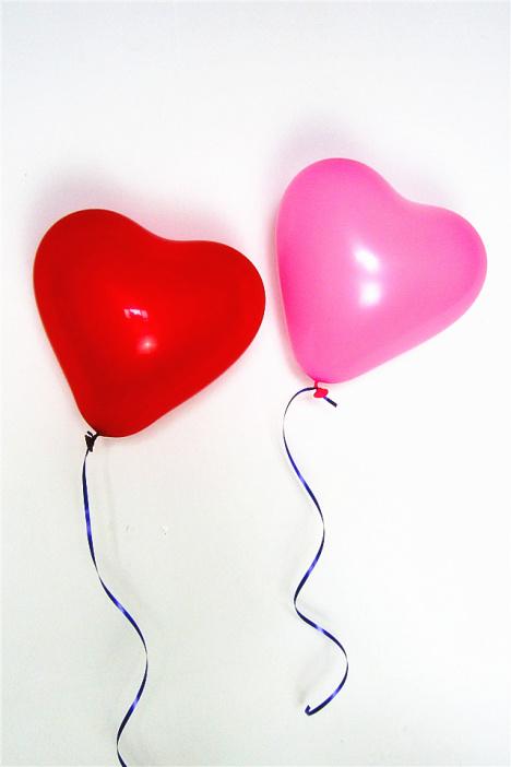 【好质量心形气球 求爱表白创意爱心形气球七夕情人