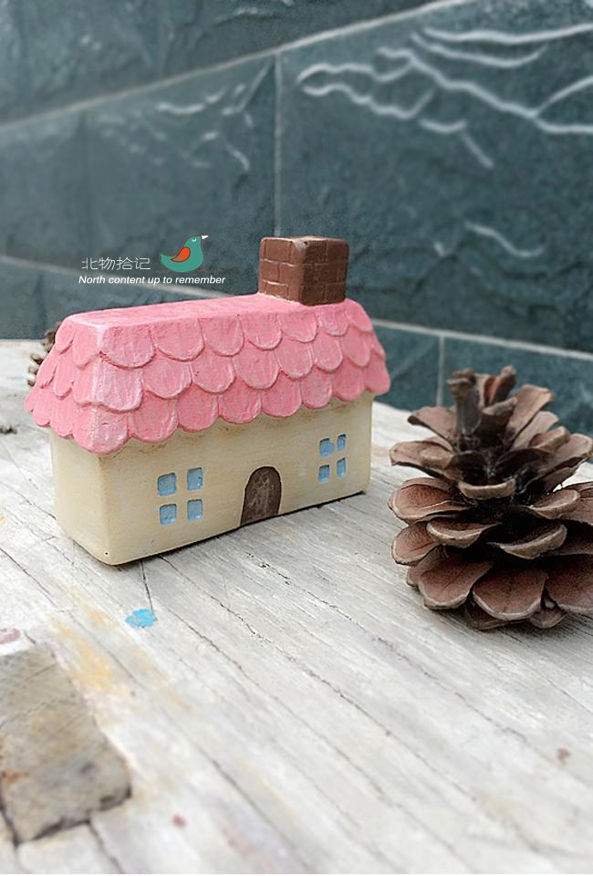 zakka雜貨圣誕節可愛圣誕小房子樹脂擺件