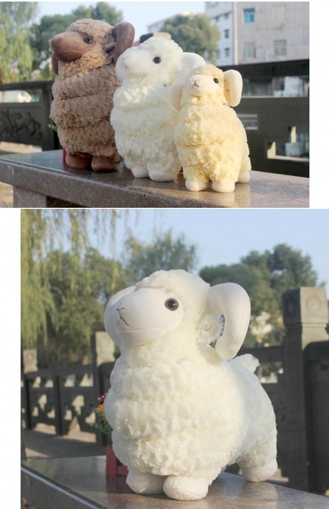 超萌可爱小羊公仔