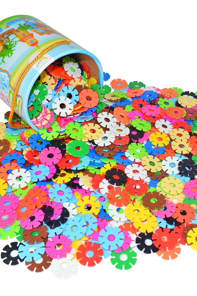 【儿童加厚版雪花片拼插积木益智玩具】-母婴-建构