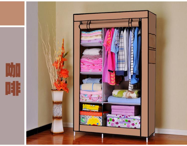 【宿舍必备折叠简易布衣柜】-家居-简易衣柜