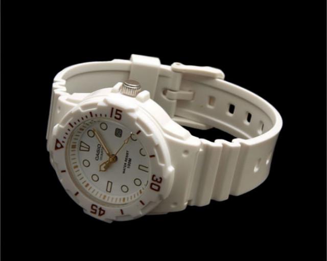 【卡西欧经典复古手表 简约白色 运动手表 腕表】-无