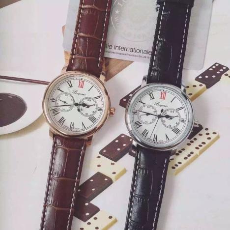 【浪琴真皮表带】-腕表