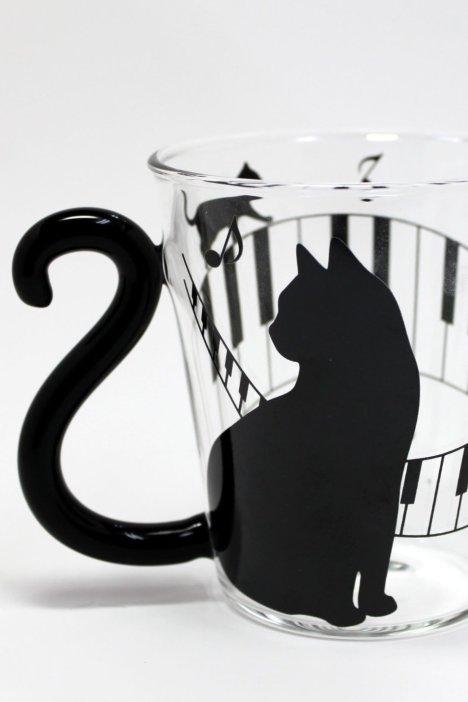 (包邮)【猫咪系列】にゃ~ご出口日本耐热玻璃牛奶咖啡杯情侣杯