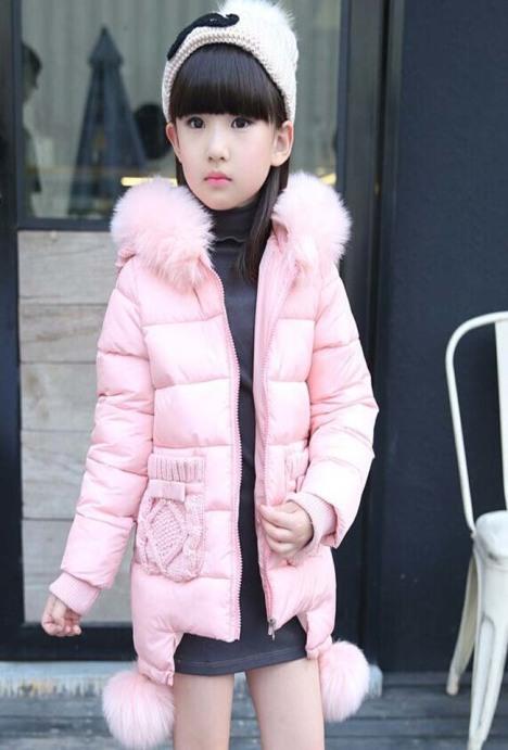 女童棉衣冬装外套 女孩棉服