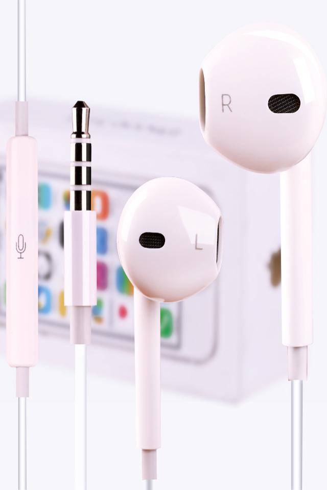 iphone5s/6s/4s/苹果手机耳机线控ipad入耳式耳塞