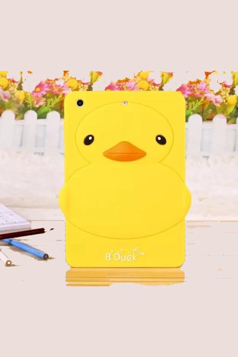 小黄鸭ipad mini123卡通可爱萌鸭平板硅胶保护套后壳
