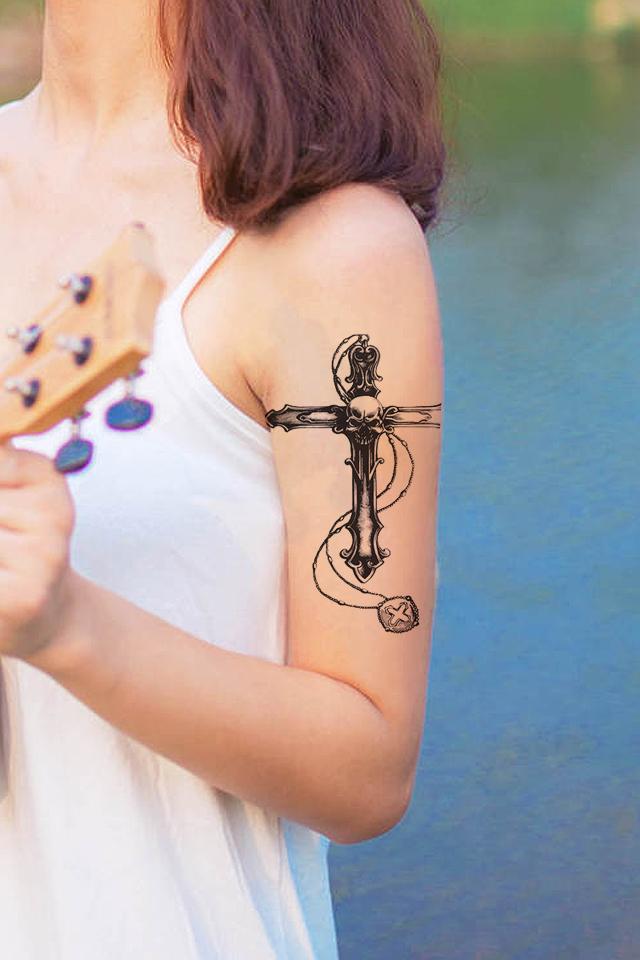 小十字架纹身手指分享展示