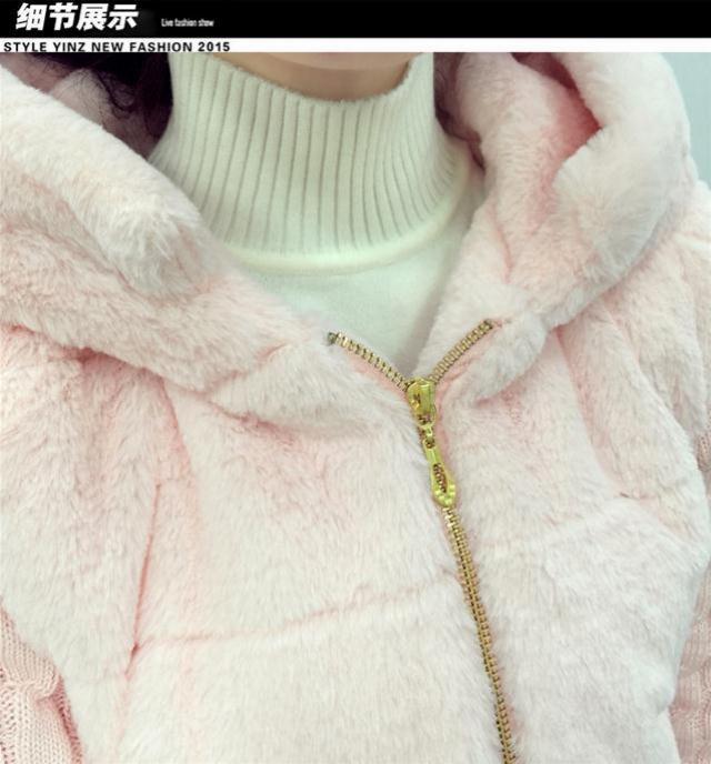 秋冬新款韩版时尚毛绒衫外套