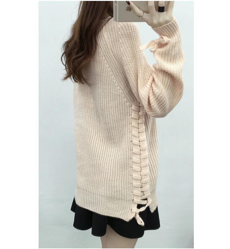 【绑带纯色毛衣】-衣服-服饰鞋包_毛衣_女装_上装-雅