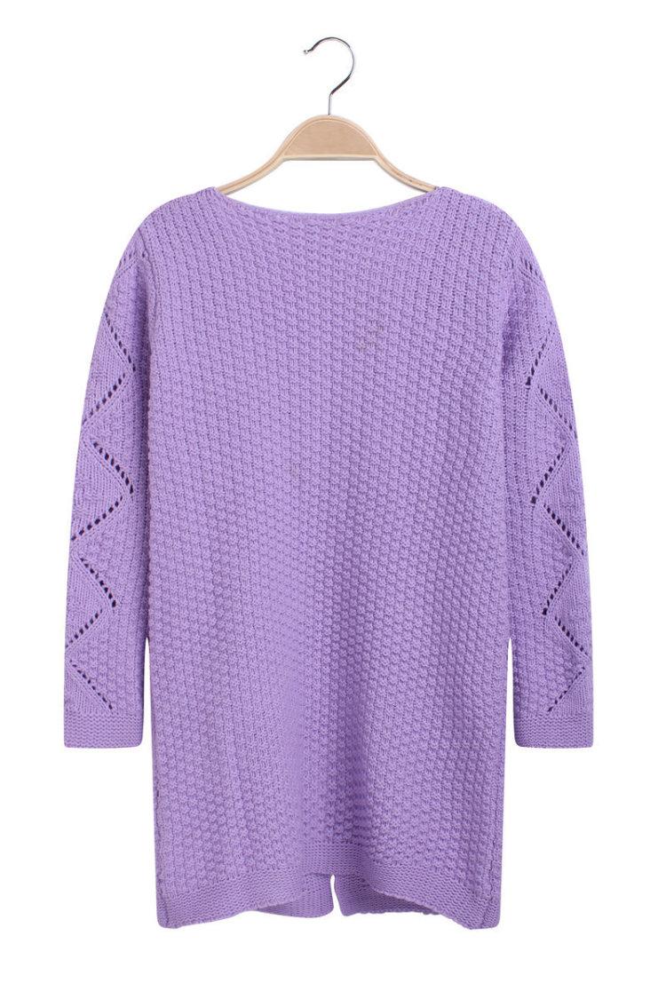 中长款开衫毛衣外套女针织衫