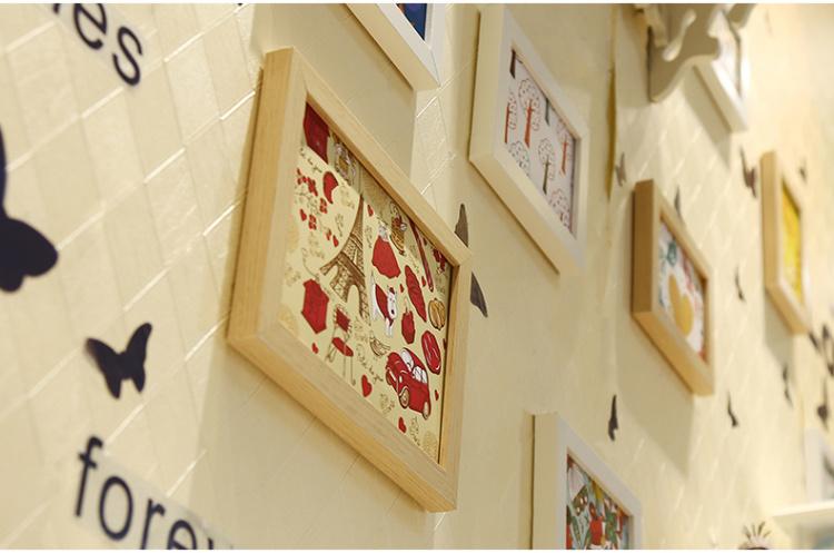 【美式地中海客厅钟表心形欧式照片墙相片墙挂墙相框