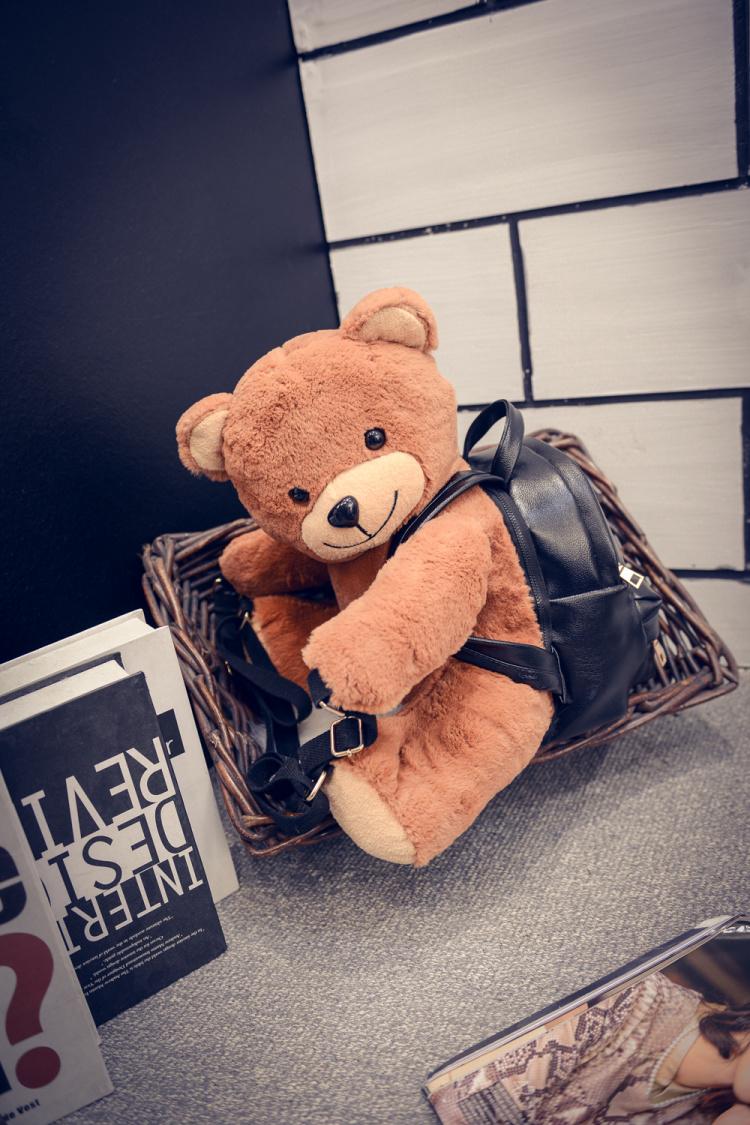 【d9手工坊】明星同款可爱泰迪熊学生双肩背书包