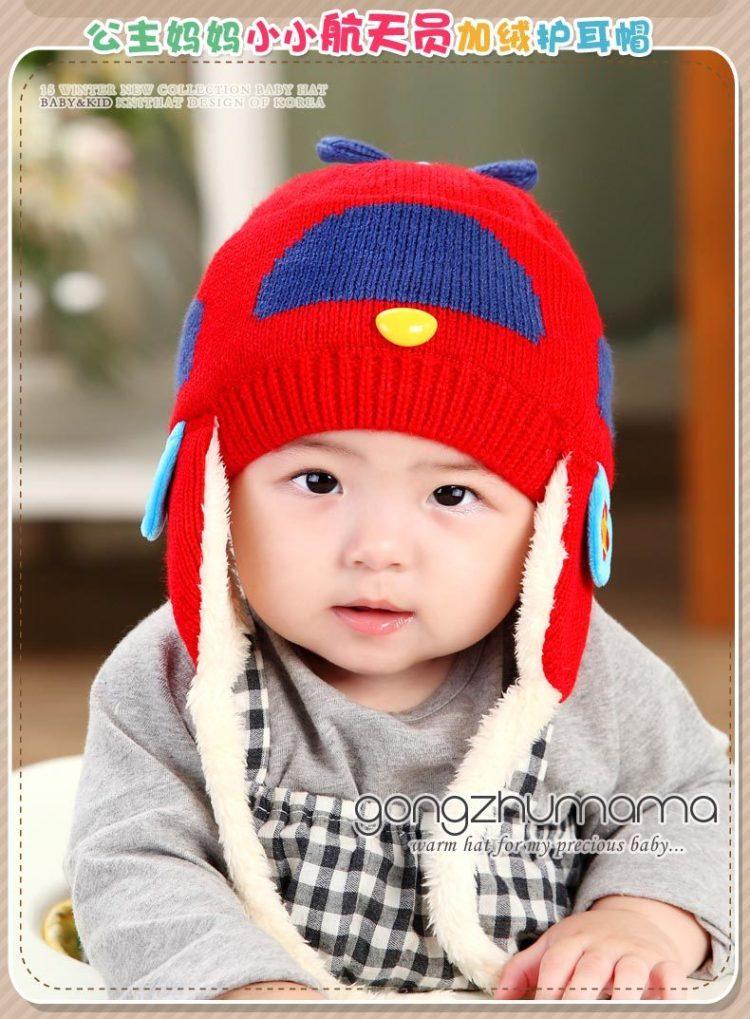 公主妈妈冬季新款宝宝帽子婴儿童帽可爱航天员护耳帽童帽男女